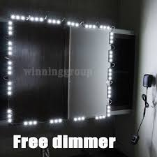 hollywood lighted makeup mirror led light kit with dimmer led