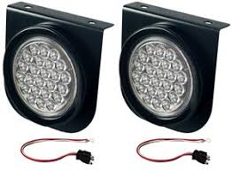 led strobe light kit amazon com 2 led trailer strobe lights clear amber 4 round kits