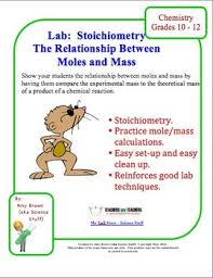 chemistry lab stoichiometry mole and mass relationships
