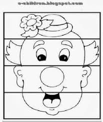 clown face template printable clown u0027s face coloring page free