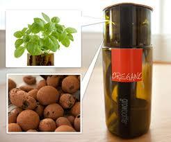 Upcycled Wine Bottles - herb grow bottles wine bottle upcycle notcot