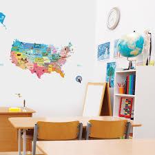 Stickers Arbre Pour Chambre Bebe by Stickers Muraux Pour Les Enfants Sticker Enfant Carte Des Etats