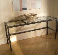 Glass Hallway Table Glass Hallway Table Entrestl Decors How To Display Photo