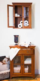 glitzhome 24 1 h wooden bathroom wall storage cabinet with