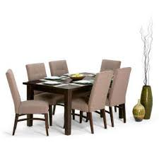 brown wood upholstered dining room sets kitchen dining