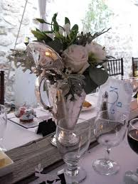 Vintage Flower Table Decorations Use Of Vintage Silver Ware For A Wedding Vase Awesome Wedding