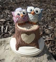 owl wedding cake topper woodland owls wedding cake topper made to order woodland