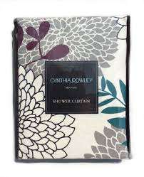 Cynthia Rowley Curtain Buy Cynthia Rowley Fabric Shower Curtain Stamped Ombre Teal And