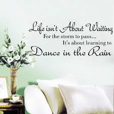 life is not about waiting inspirational quotes removable cute art see larger image