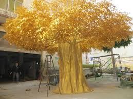 gnw btr1501 imitation gold leaf artificial golden maple tree sale