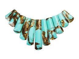 turquoise stones necklace images Dakota stones turquoise and bronzite 11 piece ladder pendant set jpg