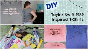 How To Look Like Taylor Swift For Halloween Diy Taylor Swift Inspired Shirts 1989 Swifty Youtube