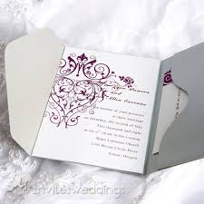 purple and silver wedding invitations puple decorations silver wedding invitations iwps073
