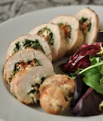 grilled chicken breast stuffed with spinach sun dried tomatoes