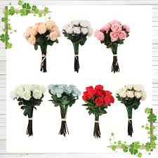 Flowers For Home Decor by 20head Real Latex Touch Rose Flowers For Wedding Party Home