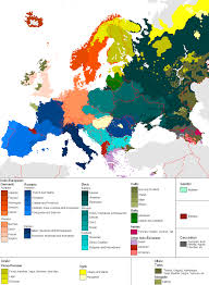 Europe Map 1914 Linguistic Maps Of Europe Languages Of Europe