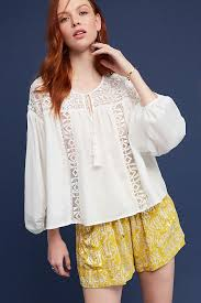 peasant blouse slide view 1 tassels lace peasant blouse work tops