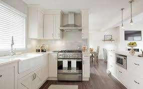 kitchen inspiring white kitchen cabinets with dark floors