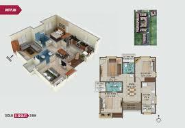 2bhk Plan by Individual Floor Plans Apartments At Pallavaram Chennai