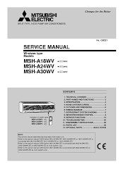 mitsubishi air conditioner service manual pdf air conditioner