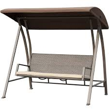 Tan Wicker Patio Furniture - amazon com patiopost swing chair seats 3 porch patio pe wicker