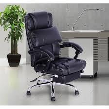 fauteuil bureau relax fauteuil de bureau manager grand confort avec repose pieds noir 72 à