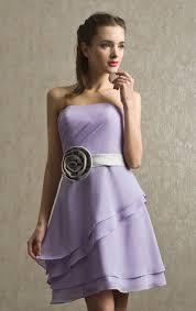 a line short mini lilac chiffon bridesmaid dress