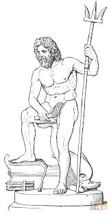 zeus the greek king of gods coloring pages for poseidon coloring