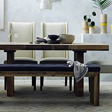 White Emmerson Parsons Table Modern Reclaimed Wood Dining Table - West elm emmerson industrial expandable dining table