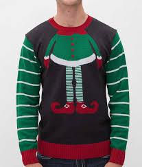 ugly christmas sweater elf sweater men u0027s sweaters buckle