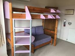 High Sleeper Bed With Futon Stompa High Sleeper With Futon Furniture Shop