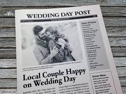 printing wedding programs best 25 wedding newspaper ideas on day news gangster