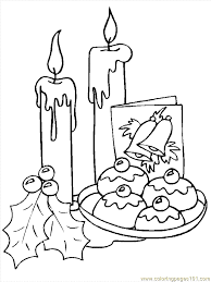 images christmas candles coloring