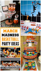 basketball party table decorations get ready for march madness with basketball party ideas design dazzle