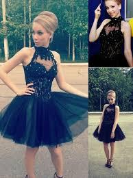 buy elegant a line tulle little black homecoming sweet 16 dress