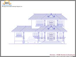 sample blueprint of house kerala traditional houses design entry