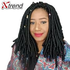 pictures of soft dred crotchet hairstyles xtrend dreadlocks crochet braid hair extensions 14inch 30stands
