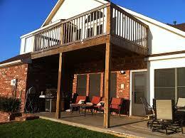 simple balcony patio cover combo in madill oklahoma hundt patio