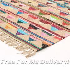 Xl Outdoor Rugs Ramona Jute Cotton Colourful Floor Rug Xl 230x320cm