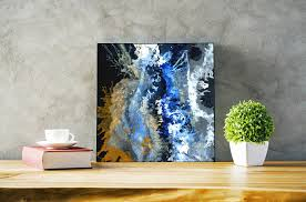splash hand painted original painting acrylic painting abstract
