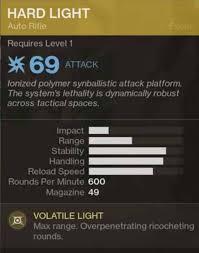 hard light destiny 2 destiny 2 exotic gear hard light secondary weapon
