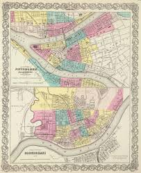 Map Of Cincinnati Old Historical City County And State Maps Of Ohio