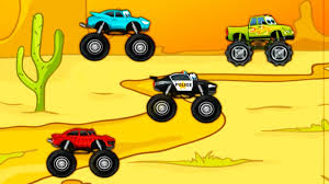monster truck puzzle games kids