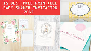 15 best free printable baby shower invitation templates 2017 youtube