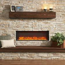 wall mount electric fireplace heater light tempered glass remote