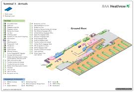 London Airports Map Terminal 3 Heathrow U2014 Arrivals Airport Layouts Of United