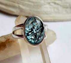 cremation rings placenta jewelry encapsulation infused glass ring sterling silver
