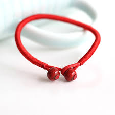 bracelet with red string images 2pcs lot fashion red string bracelet ceramic handmade accessories jpg