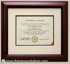 framing diplomas framed diploma with a touch of color framing documents