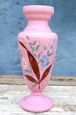 Victorian Glass Vase Victorian Painted Glass Vase Ebay